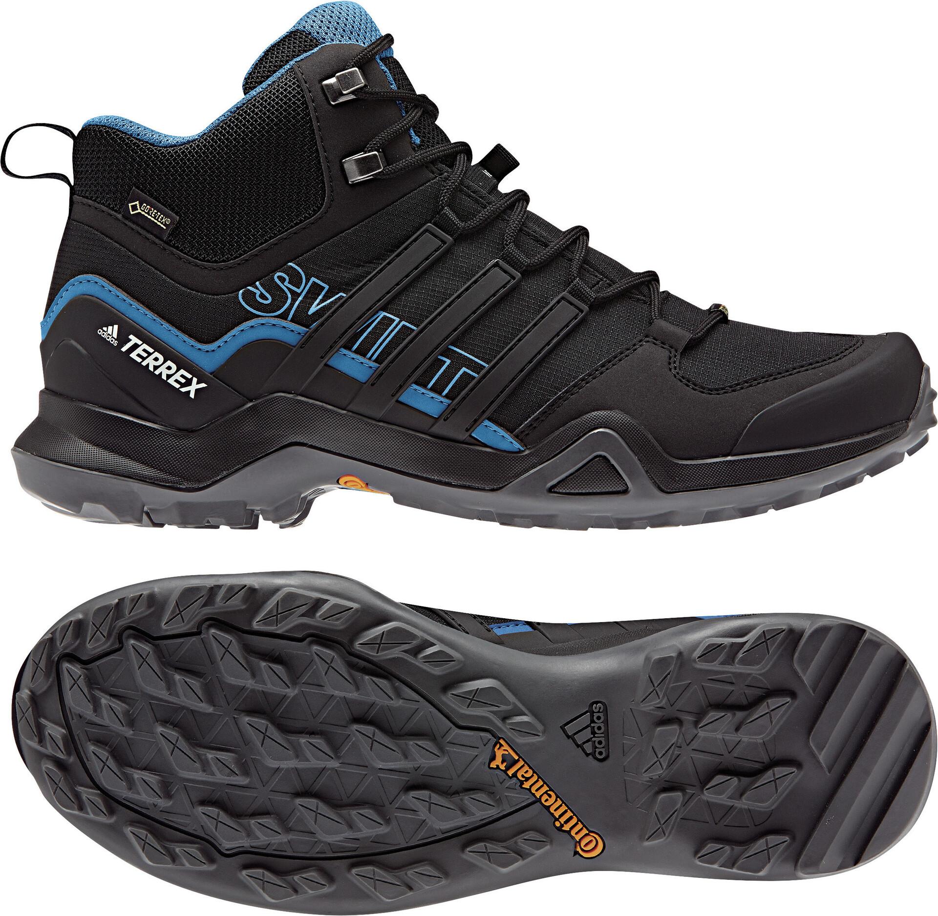 adidas TERREX Swift R2 Mid Gore Tex Chaussures de randonnée Homme, core black